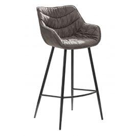 Moebel Living Šedá látková barová židle Grec 104 cm