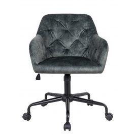 Moebel Living Zelená sametová kancelářská židle Goja