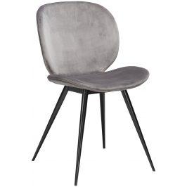 DAN-FORM Světle šedá sametová jídelní židle DanForm Cloud
