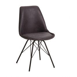 Moebel Living Šedá čalouněná jídelní židle Alara