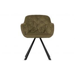 Hoorns Vojensky zelená sametová židle Herian