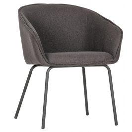 Hoorns Šedá čalouněná jídelní židle Susan