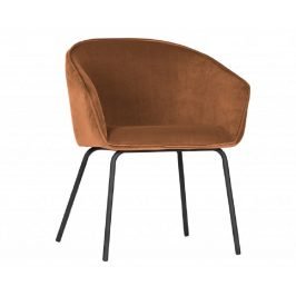 Hoorns Hnědá sametová jídelní židle Susan