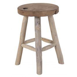 Přírodní teaková stolička Nordic Living Bodit