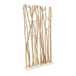Přírodní dřevěný paraván Bizzotto Aili 180 cm