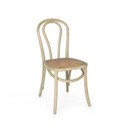 Přírodní dřevěná jídelní židle Bizzotto Curvy