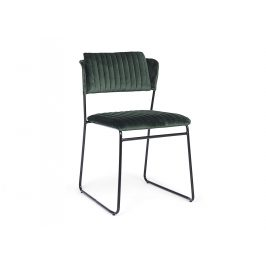 Zelená sametová jídelní židle Bizzotto Beatrice