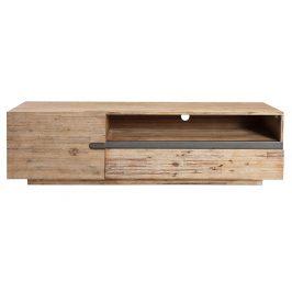 Moebel Living Přírodní dřevěný TV stolek Woky 170x42 cm Stolky pod TV