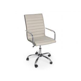Světle béžová kožená kancelářská židle Bizzotto Perth