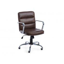 Hnědá kožená kancelářská židle Bizzotto Eleni
