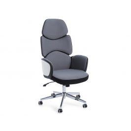 Tmavě šedá čalouněná kancelářská židle Bizzotto Armstrong