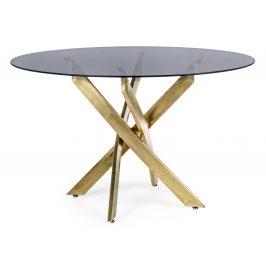 Černý skleněný jídelní stůl Bizzotto George 120 cm