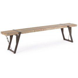 Dřevěná jídelní lavice Bizzotto Blocks 200 cm
