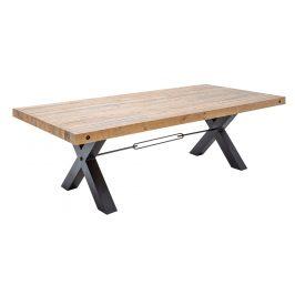 Moebel Living Masivní přírodní jídelní stůl Hogan 200x100 cm