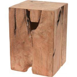 Culty Dřevěná masivní teaková stolička Rolli 35 cm