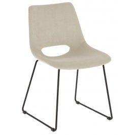 Béžová manšestrová jídelní židle LaForma Ziggy