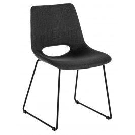 Tmavě šedá čalouněná jídelní židle LaForma Ziggy
