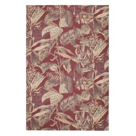 Hoorns Kaštanově hnědý koberec Flowy 155 x 230 cm s květinovým vzorem