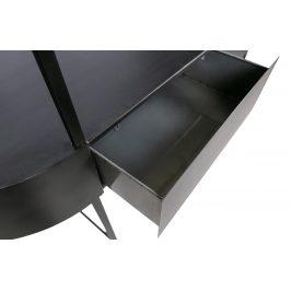 Hoorns Černý kovový toaletní stolek Dinah 120 x 46 cm