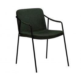 DAN-FORM Tmavě zelená čalouněná jídelní židle DanForm Boto