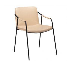 DAN-FORM Béžová kožená jídelní židle DanForm Boto