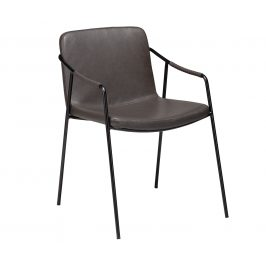 DAN-FORM Šedá kožená jídelní židle DanForm Boto
