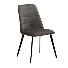 DAN-FORM Šedá sametová jídelní židle DanForm Embrace