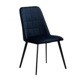 DAN-FORM Modrá sametová jídelní židle DanForm Embrace