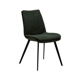 DAN-FORM Zelená čalouněná jídelní židle DanForm Fierce