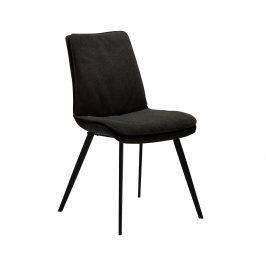 DAN-FORM Černá čalouněná jídelní židle DanForm Fierce