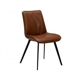 DAN-FORM Koňakově hnědá kožená jídelní židle DanForm Fierce