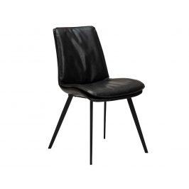 DAN-FORM Černá kožená jídelní židle DanForm Fierce