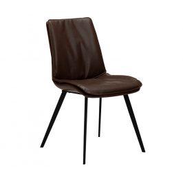 DAN-FORM Hnědá kožená jídelní židle DanForm Fierce