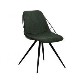 DAN-FORM Tmavě zelená čalouněná jídelní židle DanForm Sway