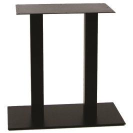Garden Project Černá kovová dvojitá stolová podnož HARD 75 x 40 cm