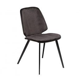 DAN-FORM Černá sametová jídelní židle DanForm Swing