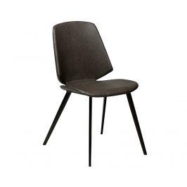 DAN-FORM Tmavě hnědá kožená jídelní židle DanForm Swing