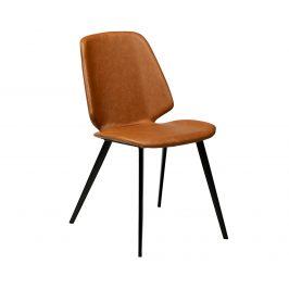 DAN-FORM Hnědá kožená jídelní židle DanForm Swing