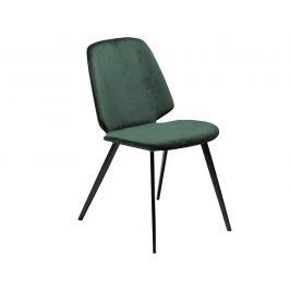 DAN-FORM Zelená sametová jídelní židle DanForm Swing