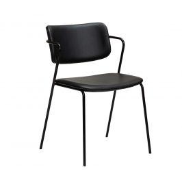DAN-FORM Černá kožená jídelní židle DanForm Zed