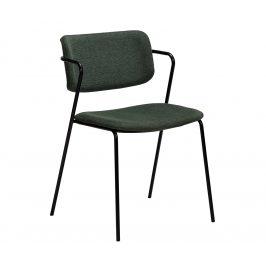 DAN-FORM Zelená čalouněná jídelní židle DanForm Zed