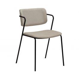DAN-FORM Béžová čalouněná jídelní židle DanForm Zed