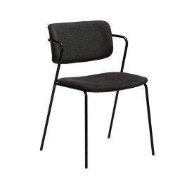 DAN-FORM Tmavě šedá čalouněná jídelní židle DanForm Zed