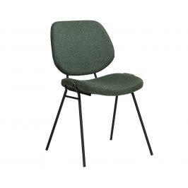 DAN-FORM Zelená čalouněná jídelní židle DanForm Yeet
