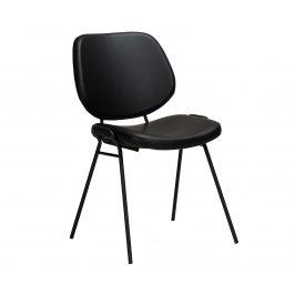 DAN-FORM Černá kožená jídelní židle DanForm Yeet