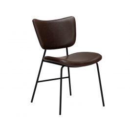 DAN-FORM Tmavě hnědá kožená jídelní židle DanForm Thrill