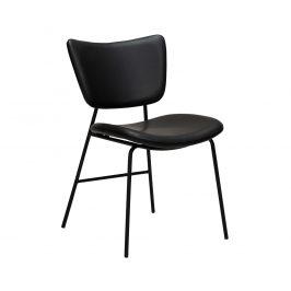DAN-FORM Černá kožená jídelní židle DanForm Thrill