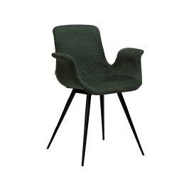 DAN-FORM Zelená čalouněná jídelní židle DanForm Thicc