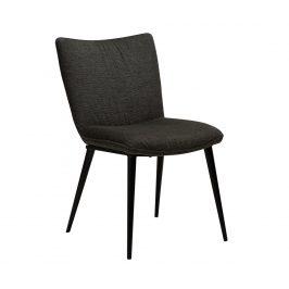 DAN-FORM Tmavě šedá čalouněná jídelní židle DanForm Join
