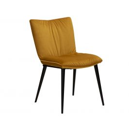 DAN-FORM Žlutá sametová jídelní židle DanForm Join